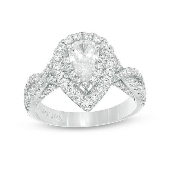 Vera Wang Love Collection 158 Ct Tw Pear Shaped Diamond Double