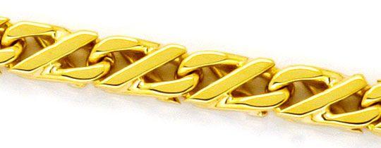 Foto 2, Dollarkette massiv Gelbgold 18K/750 Goldkette Karabiner, K2248