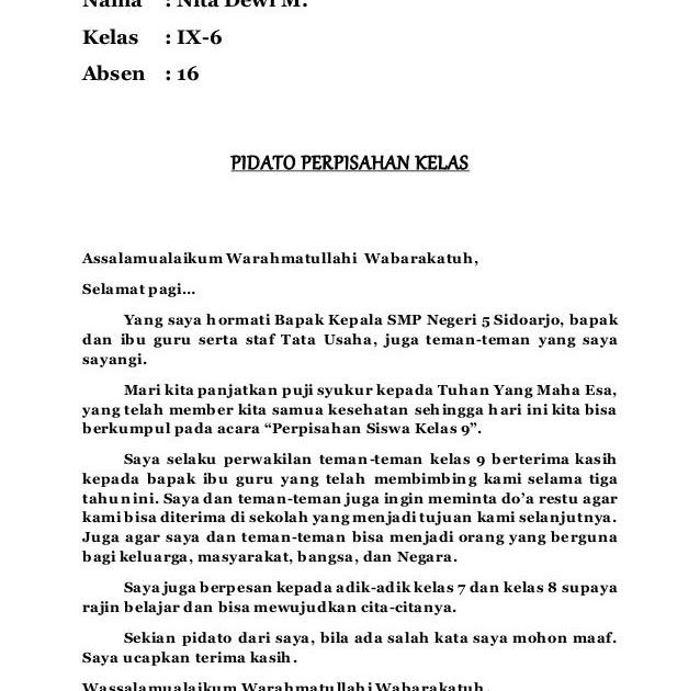 Contoh Pidato Bahasa Jawa Tentang Perpisahan Contoh Soal Dan Materi Pelajaran 3