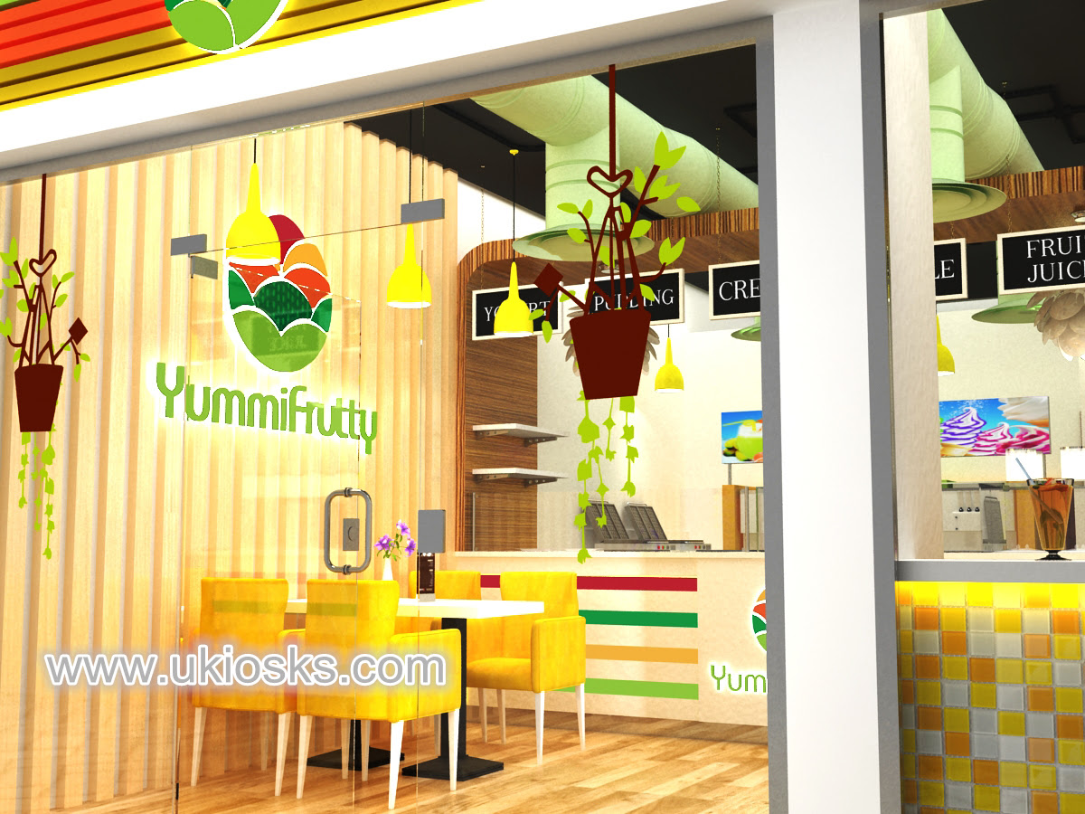 Attractive Frozen Yogurt Shop Design Ideas For Ice Cream Kiosk