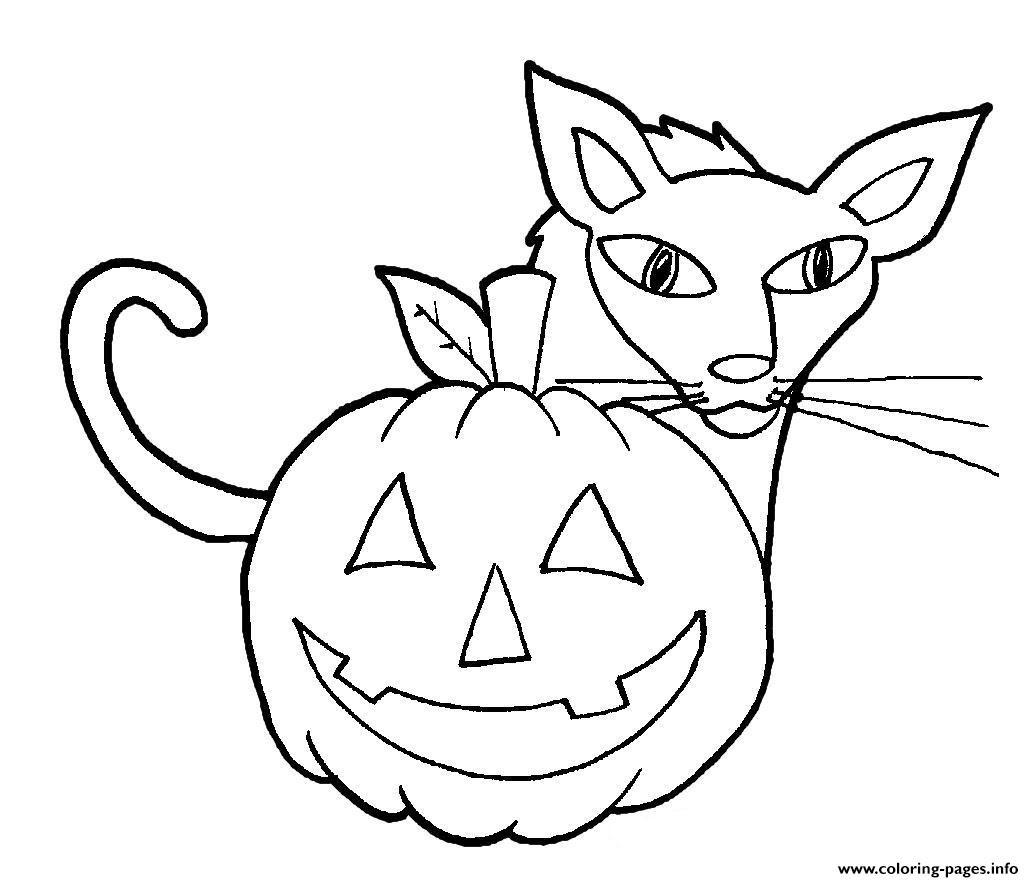 Easy Halloween Cat And Pumpkin S For Kindergarten27d9 ...