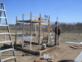 Chicken Tractor Roof, Siding, Back Section Removed