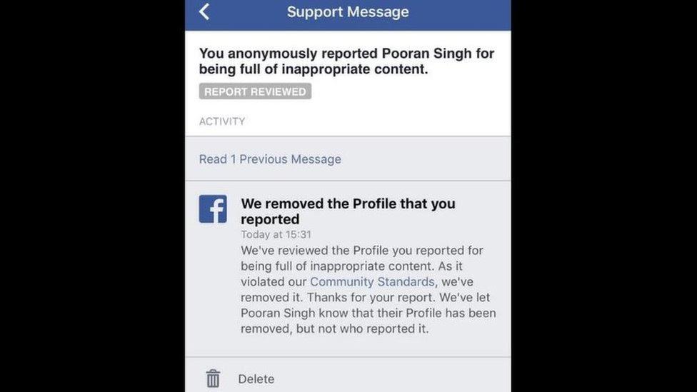 Mensaje de Facebook