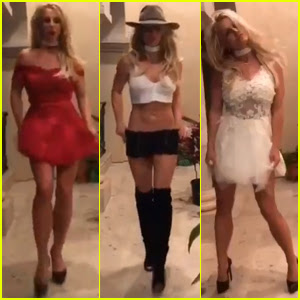 Britney Spears Has Her Own Fashion Week at Home!