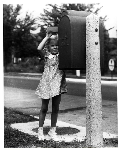 Girl Mailing a Letter