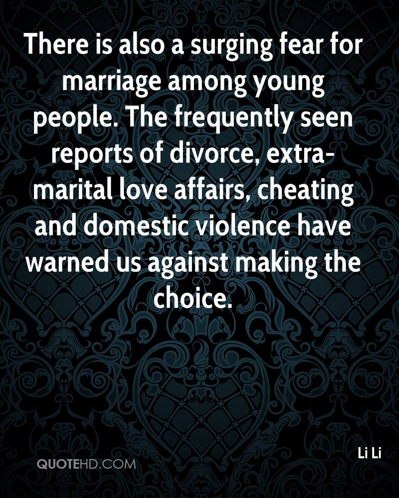 There is also a surging fear for marriage among young people The frequently seen reports