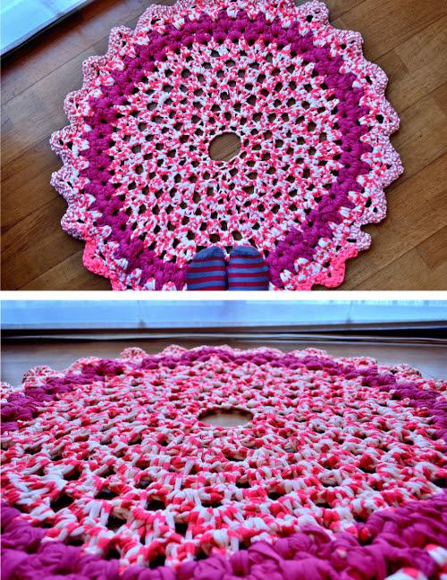Teje una alfombra con trapillo