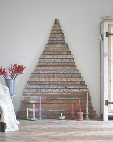 wood & wool x-mas tree 2011 by wood & wool stool