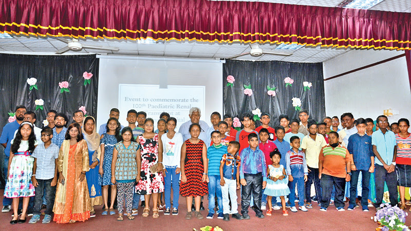Children who gained a new lease of life by undergoing kidney transplants at the Peradeniya hospital. (Picture by Asela Kuruluwansa)
