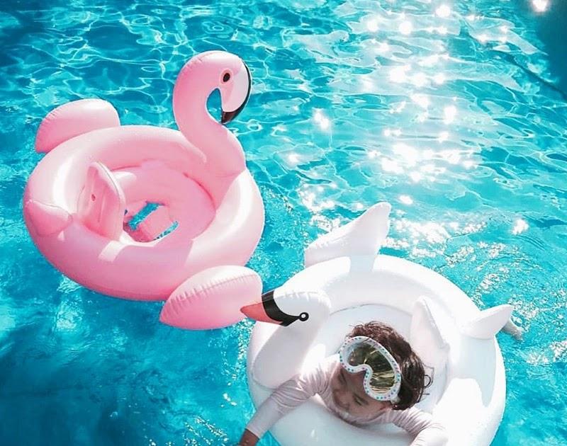 c79e07214a Comprar Anel Inflável Para A Natação Float Assento Do Bebê Verão Ouro Rosa  Flamingo Piscina Cisne Branco Brinquedos Baratas Online Preço