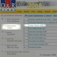 Tarkan in top 3 of D&R sale lists
