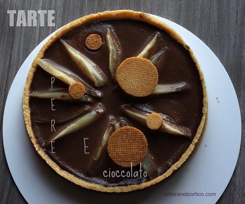 """Tarte """"girasole"""" pere e cioccolato"""