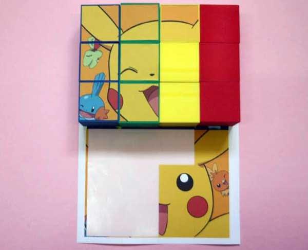 diy 自製拼圖 卡通圖像 pictures block puzzles cubes dice 貼紙 骰子