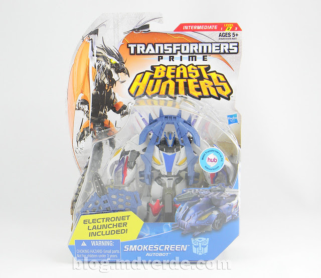 Transformers Smokescreen Deluxe - Transformers Prime Beast Hunters - caja