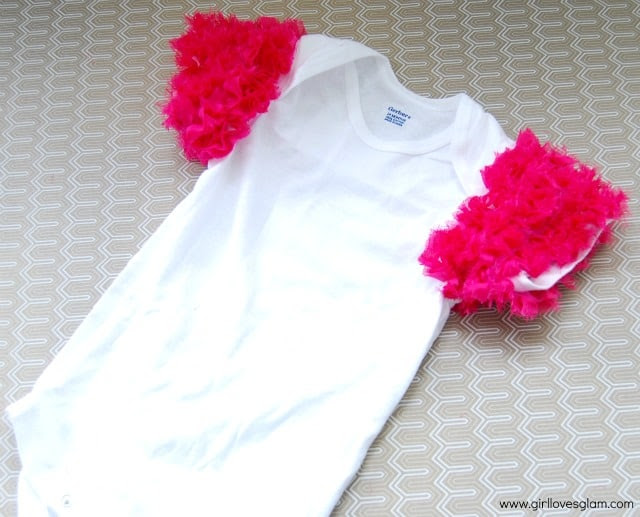 Make a ruffle sleeved onesie or shirt