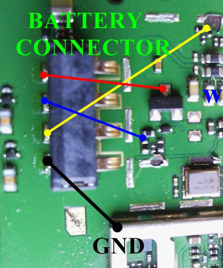 Huawei Ascend Y210 Battery Connector Terminal Jumper Ways