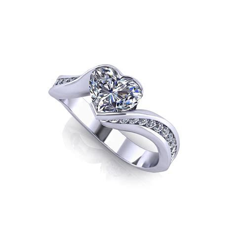 Heart Engagement Rings   Jewelry Designs   Product