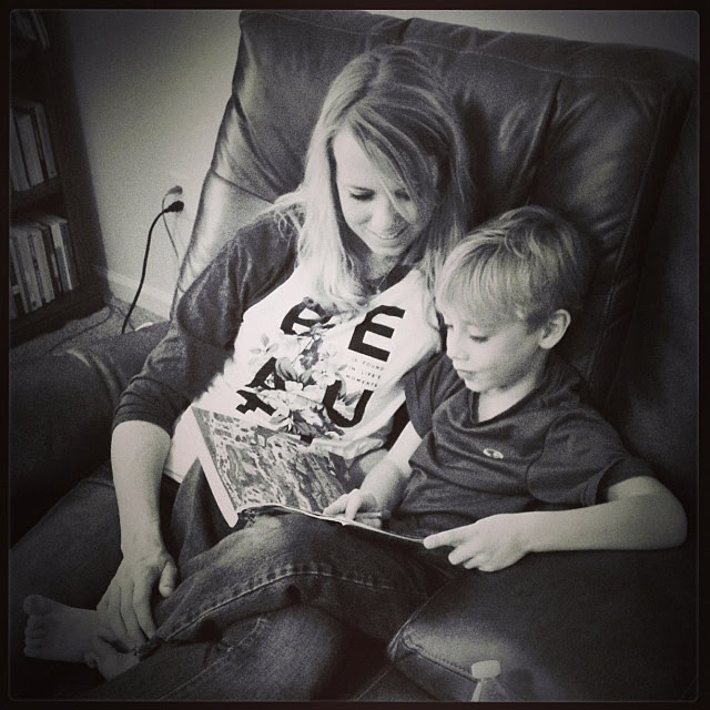 """""""Lookin' book time with Eli... #1000gifts, #sevenly"""