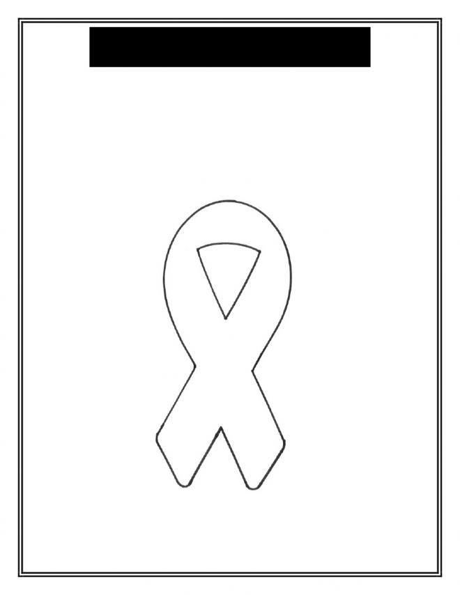 Breast Cancer Ribbon Coloring Sheet Clipartsco