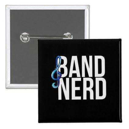 band nerd pinback button