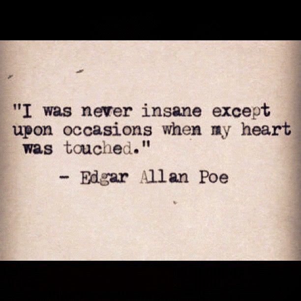 edgar allan poe quote  dark side quotes  Pinterest