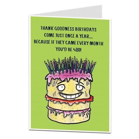 Funny 40th Birthday Card   Age Joke   LimaLima.co.uk