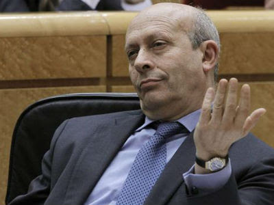 El ministro de Educación, José Ignacio Wert, el pasado martes, en el Senado. EFE