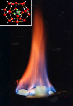 Methane hydrates clathrates