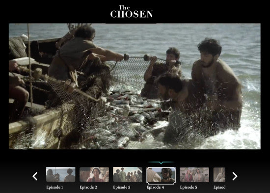 TheChosen.tv, a wonderful portrayal of Jesus' life and ministry,