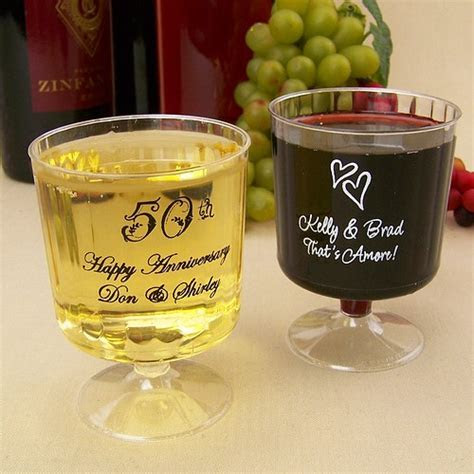 Plastic Wine Cups   5 Oz. Personalized   My Wedding
