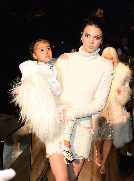 Kendall & North at the Yeezy Season 3 Fashion Show at Madison Square Gardens