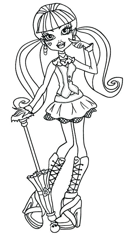 Monster High Draculaura Coloring Pages At Getdrawingscom Free For