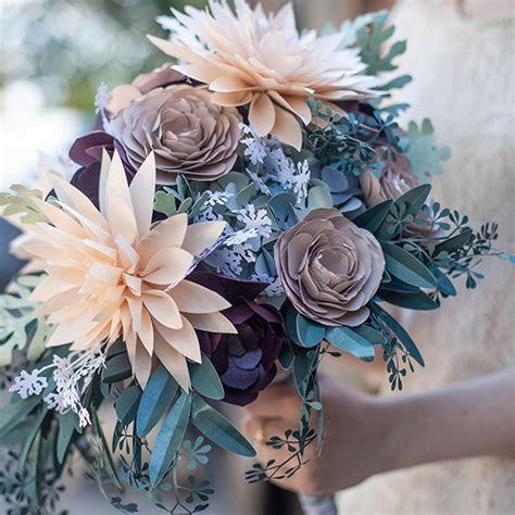 DIY Rustic Paper Bridal Bouquet   Lia Griffith