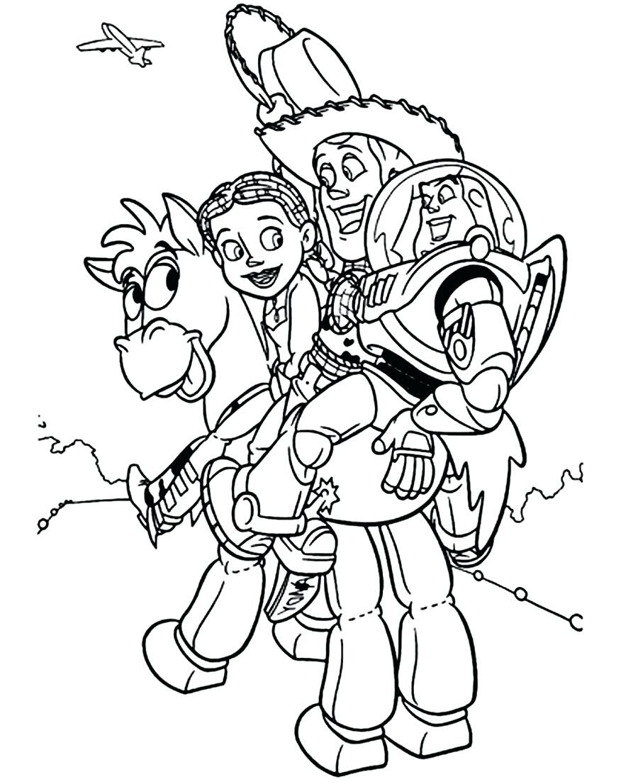Woody Coloring Pages at GetColorings.com | Free printable ...