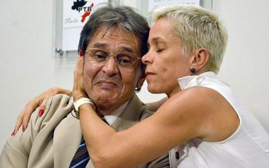 Roberto Jefferson e a filha, Cristiane Brasil | Foto: Divulgação/PTB