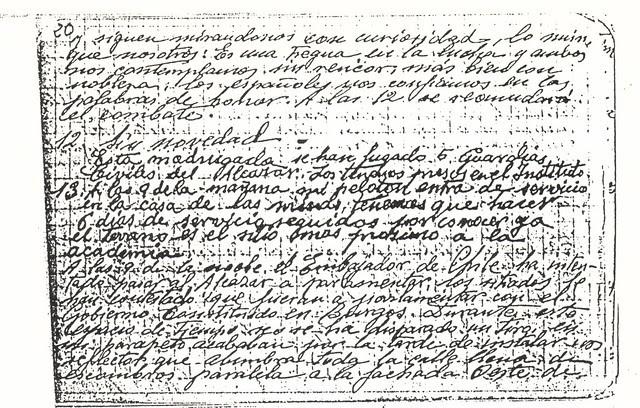 Diario del Guardia de Asalto republicano que controlaba el Asedio al Alcázar. 12 y 13 de septiembre de 1936