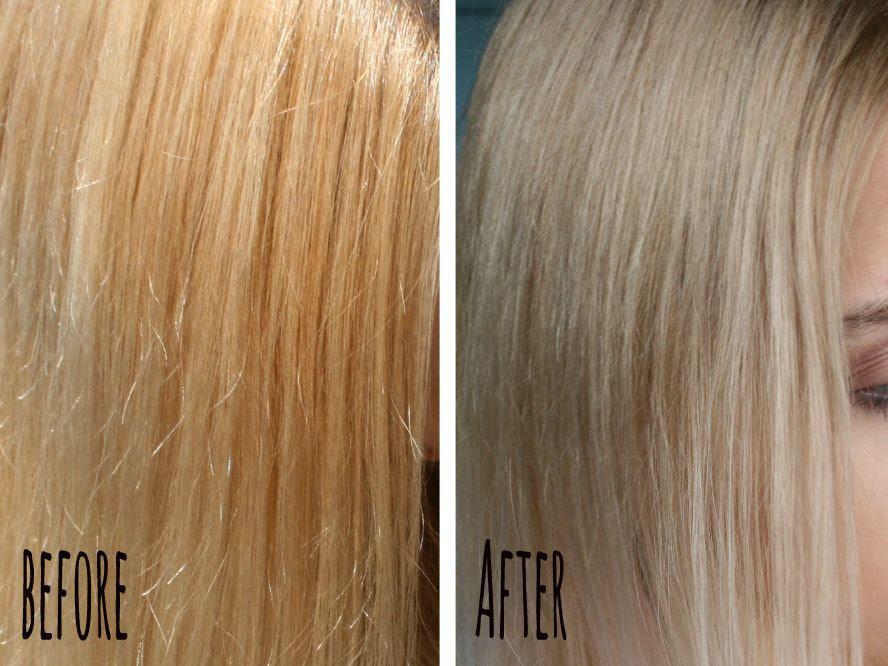 Wella 7/89 Gelbstich aus blondem Haar entfernen