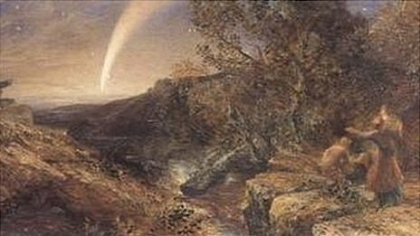 Stolen painting: The Comet of 1858 by Samuel Palmer