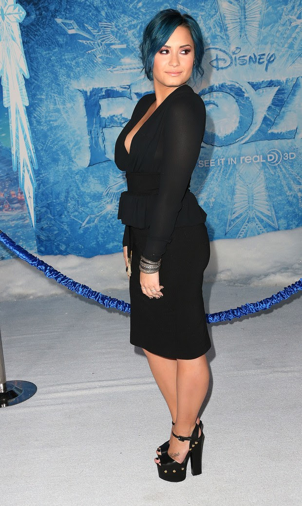 Demi Lovato em première de filme em Los Angeles, nos Estados Unidos (Foto: Frederick M. Brown/ Getty Images/ AFP)