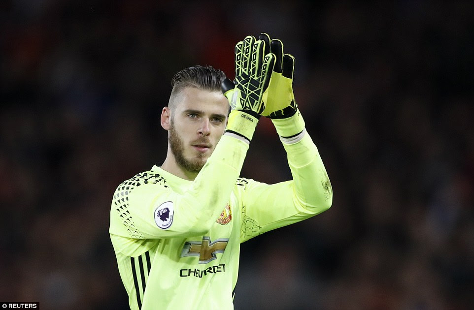De Gea did not deserve to lose and applauds the away fans after keeping Liverpool at bay for a draw at their big rivals
