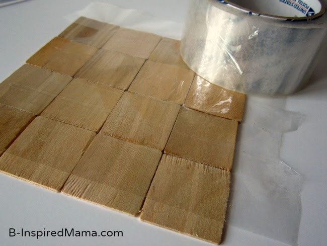 Use Tape to Make a Puzzle with PSA Essentials at B-InspiredMama.com