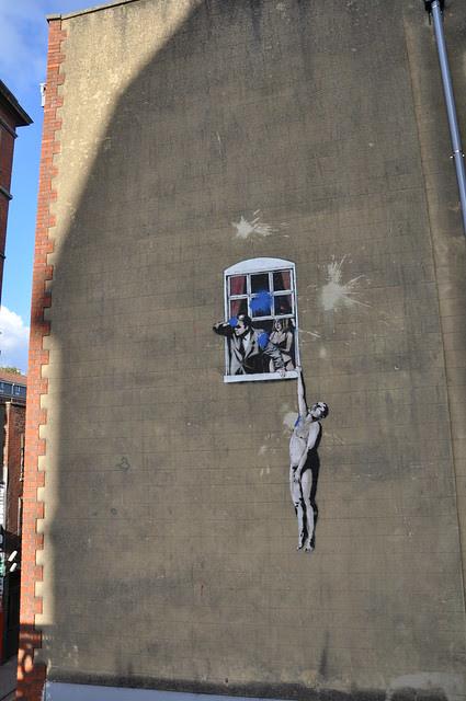Banksy - naked lover