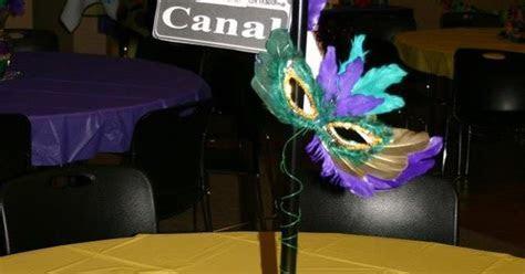 New Orleans street sign centerpieces   Mardi Gras