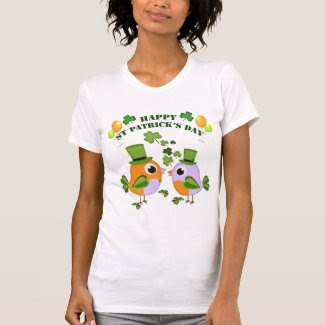 Happy St Patricks Day birds Tshirt
