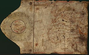 Christopher Colombus map. Lisbon, workshop of ...