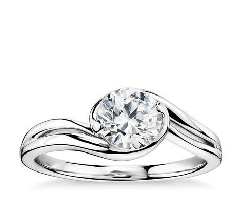 Monique Lhuillier Eternal Solitaire Engagement Ring in