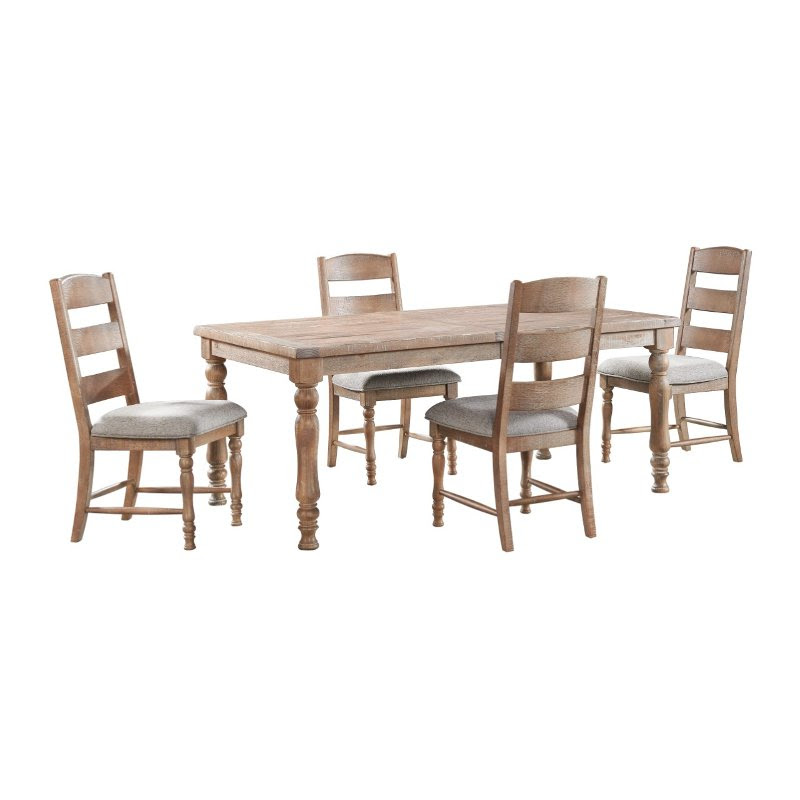 Rustic Light Brown 5 Piece Dining Room Set Hilltop Rc Willey Furniture Store