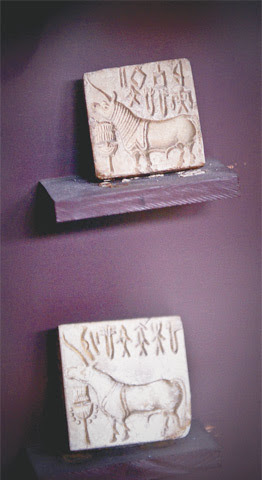 The Indus Valley seals with inscription that is yet to be deciphered.