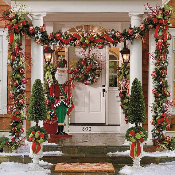 Image result for christmas entryway decorations