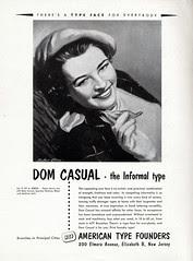 Original Dom Casual Ad 1952